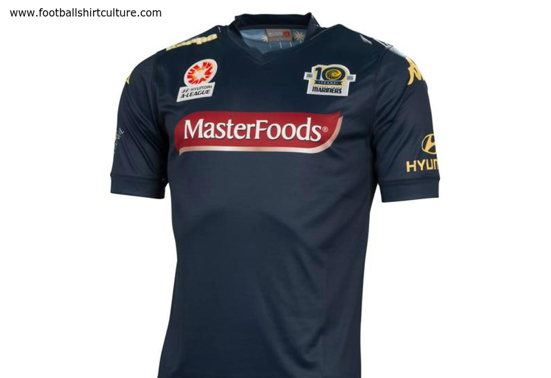 Central Coast Mariners 2014 2015 Kappa Away Football Shirt