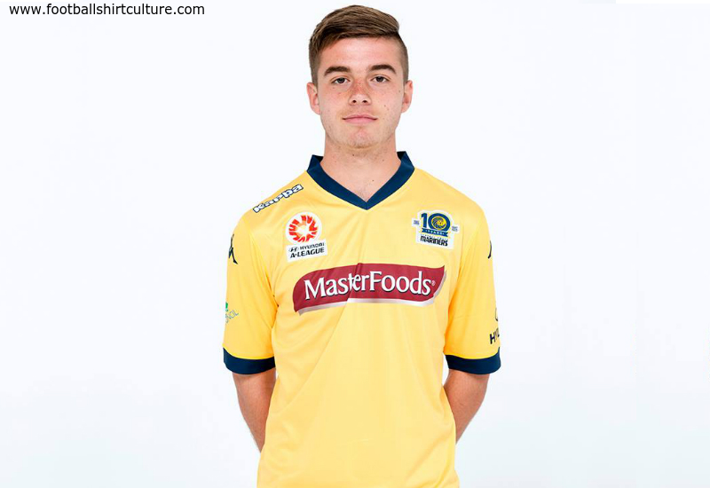 Central Coast Mariners 2014 2015 Kappa Home Football Shirt