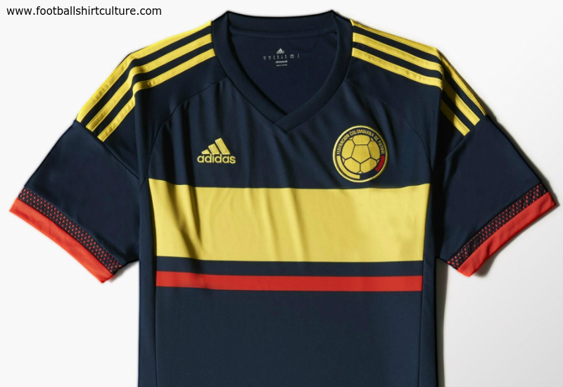Colombia 2015 Adidas Away Football Shirt