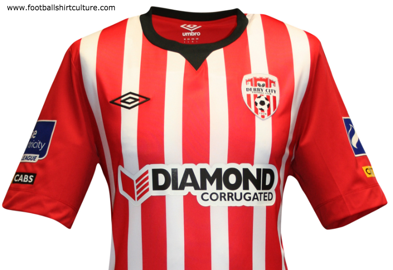 Derry City 2015 Umbro Home Football Shirt