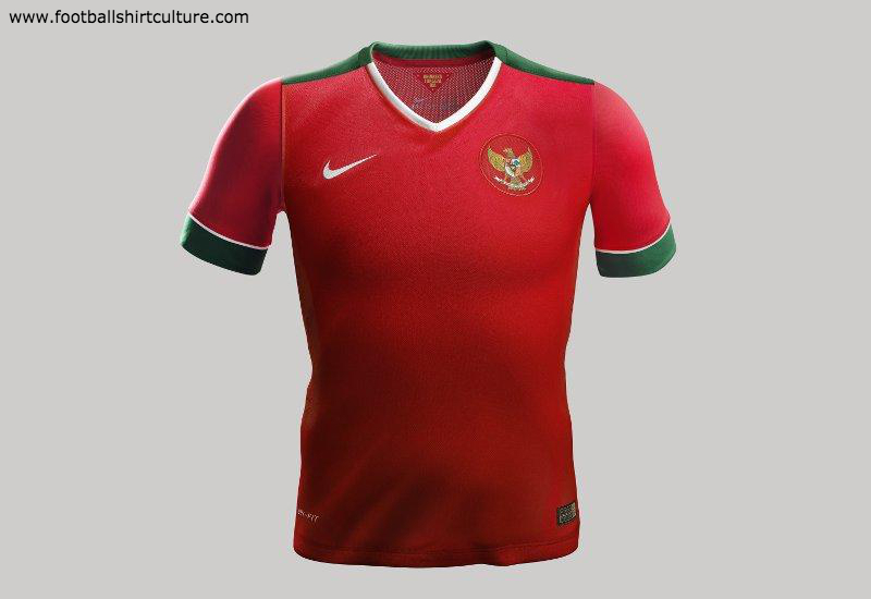 Indonesia 2014 2015 2016 Nike Home Football Shirt