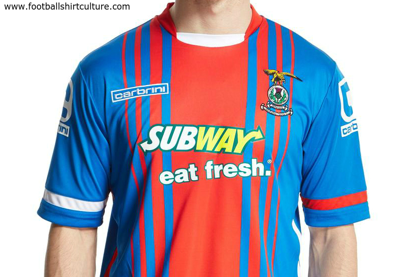 Inverness Ct 2015 2016 Carbrini Home Football Shirt