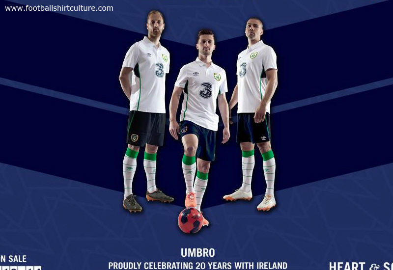 Ireland 2014 15 Umbro Away Football Kit