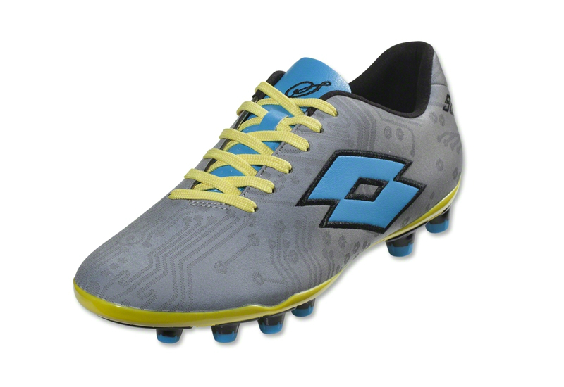 Lotto Solista Iv Tx Football Boots Reflective Silver Fluo Blue