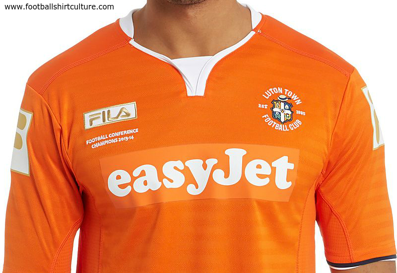 Luton Town 2014 15 Fila Home Football Shirt