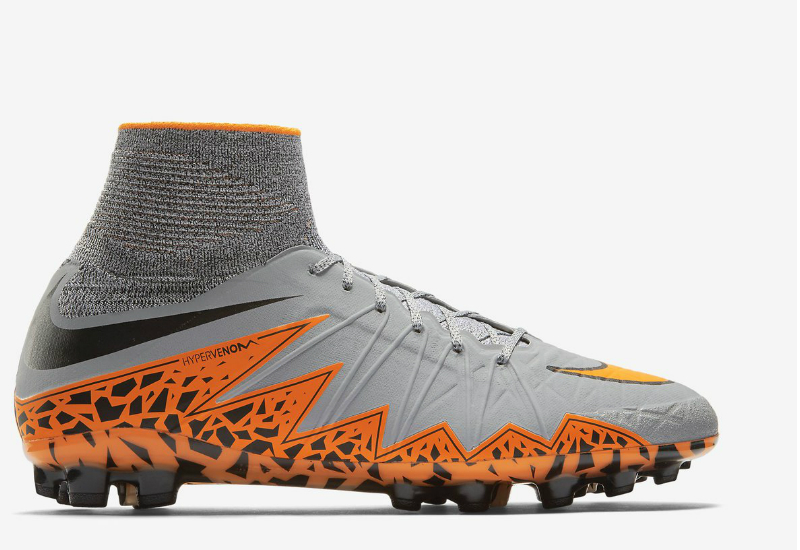 Nike Hypervenom Phantom Ii Ag Boots Wolf Grey Black Total Orange