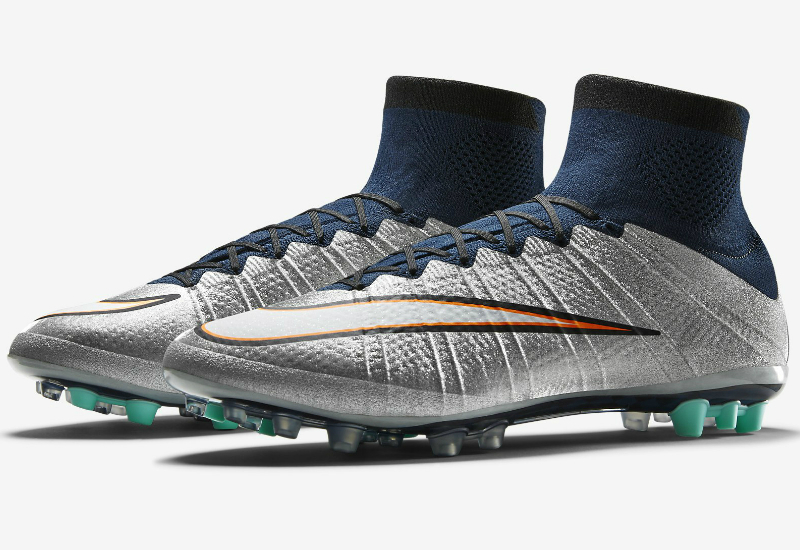 Nike Mercurial Superfly Cr7 Ag R Silverware Metallic Silver Hyper Turquoise Dark Obsidian White