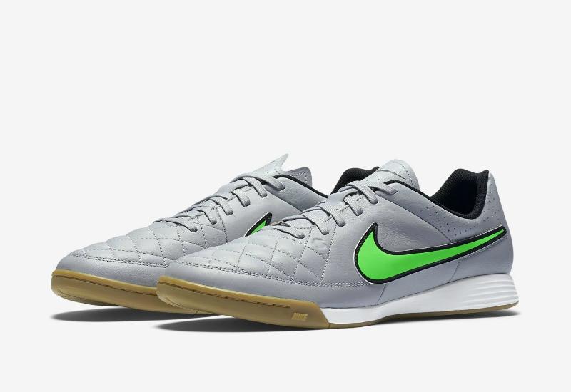 f43fb9118af Nike Tiempo Genio Leather IC - Wolf Grey   Black   Green Strike