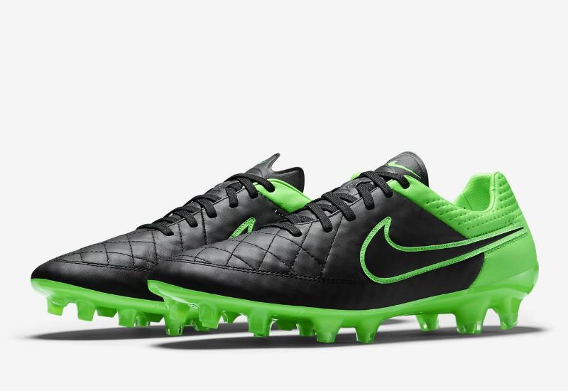 timeless design 80917 a76e2 Nike Tiempo Legend V FG - Tech Craft - Black / Green Strike ...