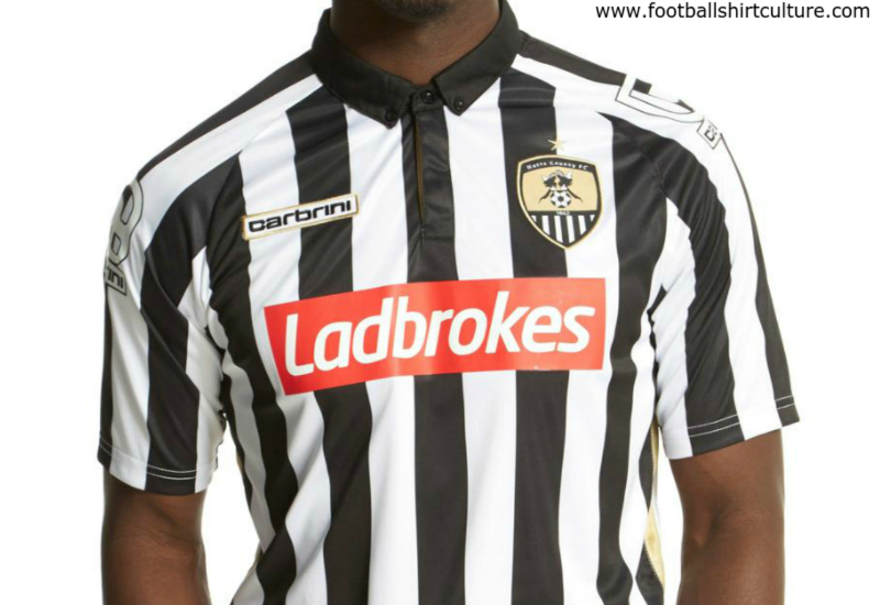 Notts County 2015 2016 Carbrini Home Football Shirt