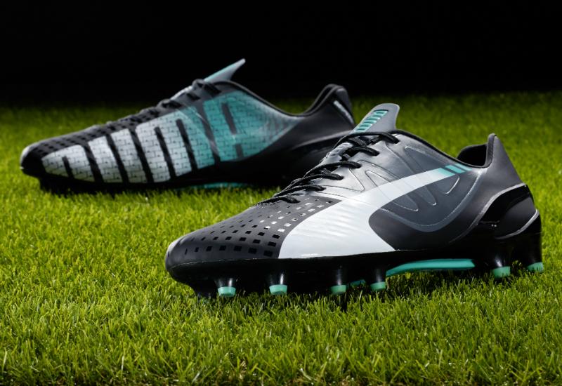 be0e11eb9e462 Puma Evospeed 1 3 Fg Football Boots Black White Turbulence Pool Green Scuba  Blue