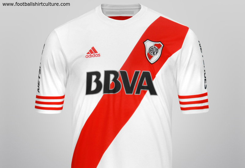 River Plate 2014 15 Adidas Home Football Shirt