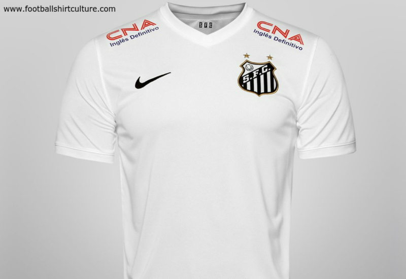 Santos 14 15 Nike Home Football Shirt