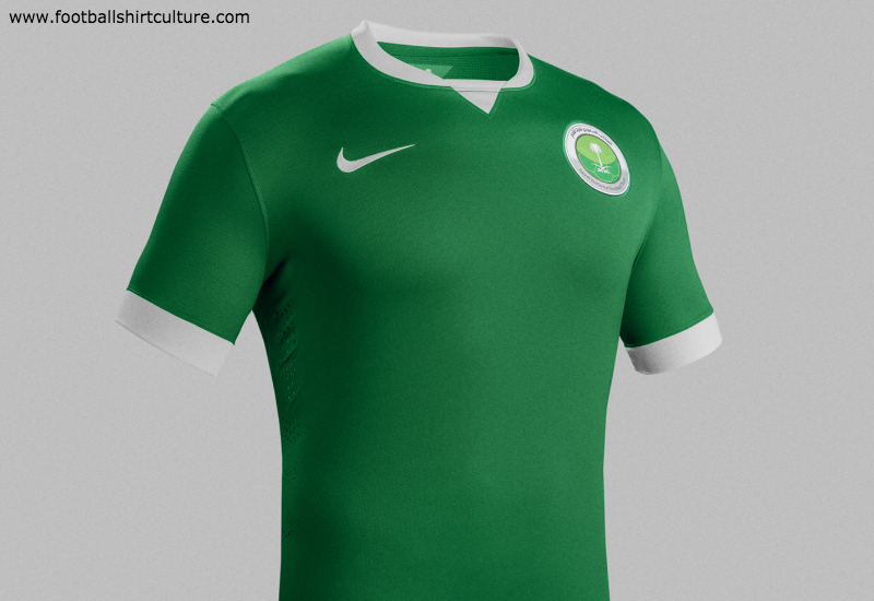Saudi Arabia 2014 15 Nike Home Football Kit