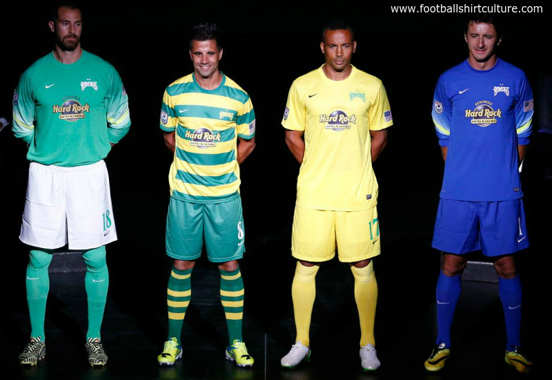 Tampa Bay Rowdies 2015 Home Away Nike Football Shirts