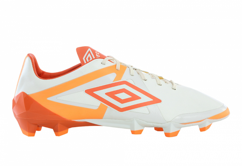 Umbro Velocita Pro Hg Football Boots White Nasurtium Orange Pop