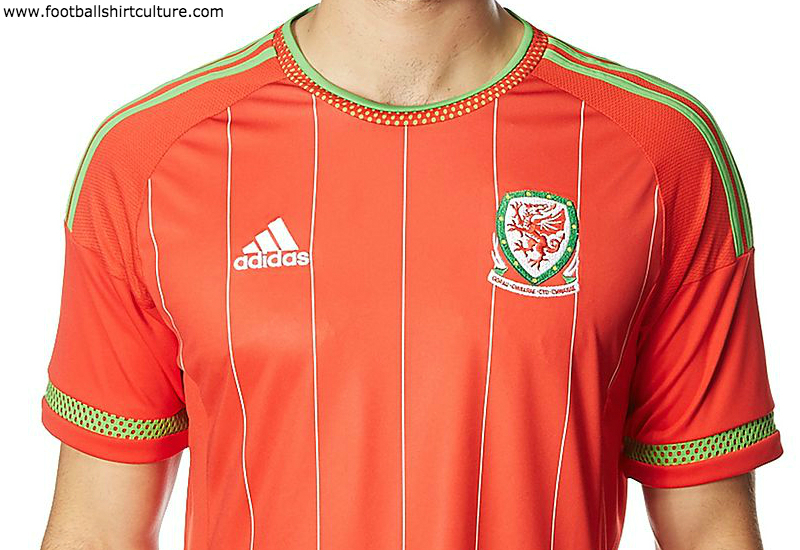 Wales 2014 15 Adidas Home Football Shirt