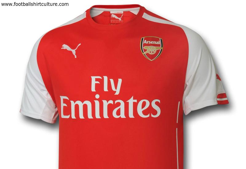 Arsenal 14/15 Puma Home Football Shirt | 14/15 Kits ...