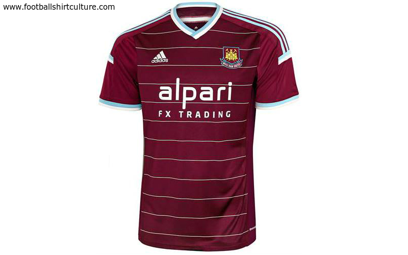 pick up 44ee7 6ee7e West Ham United 14/15 Adidas Home Football Shirt | 14/15 ...