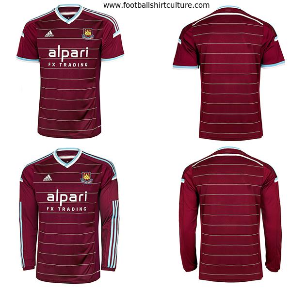 72bea8a25 West Ham United 14 15 Adidas Home Football Shirt