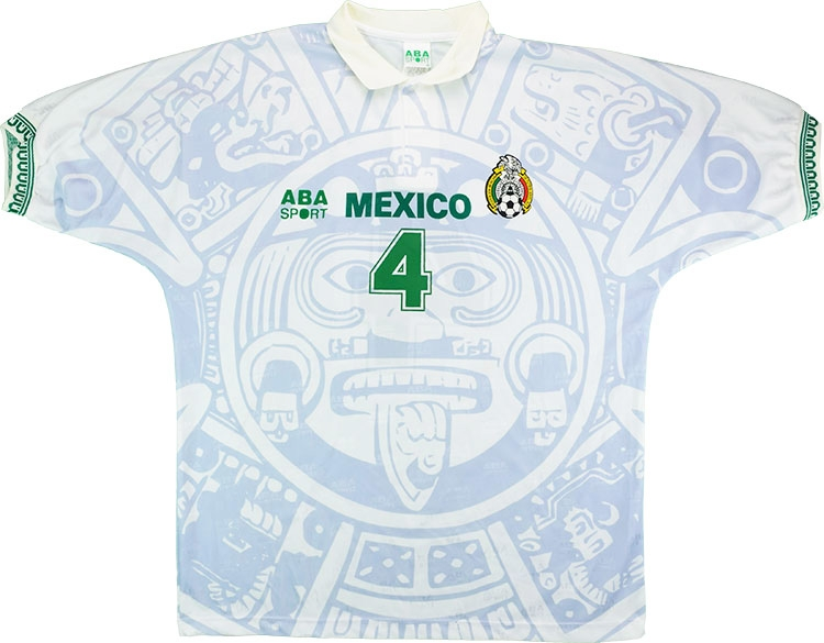 Click to enlarge image aba sport 1998 mexico match worn away shirt a.jpg ... 8c8123492