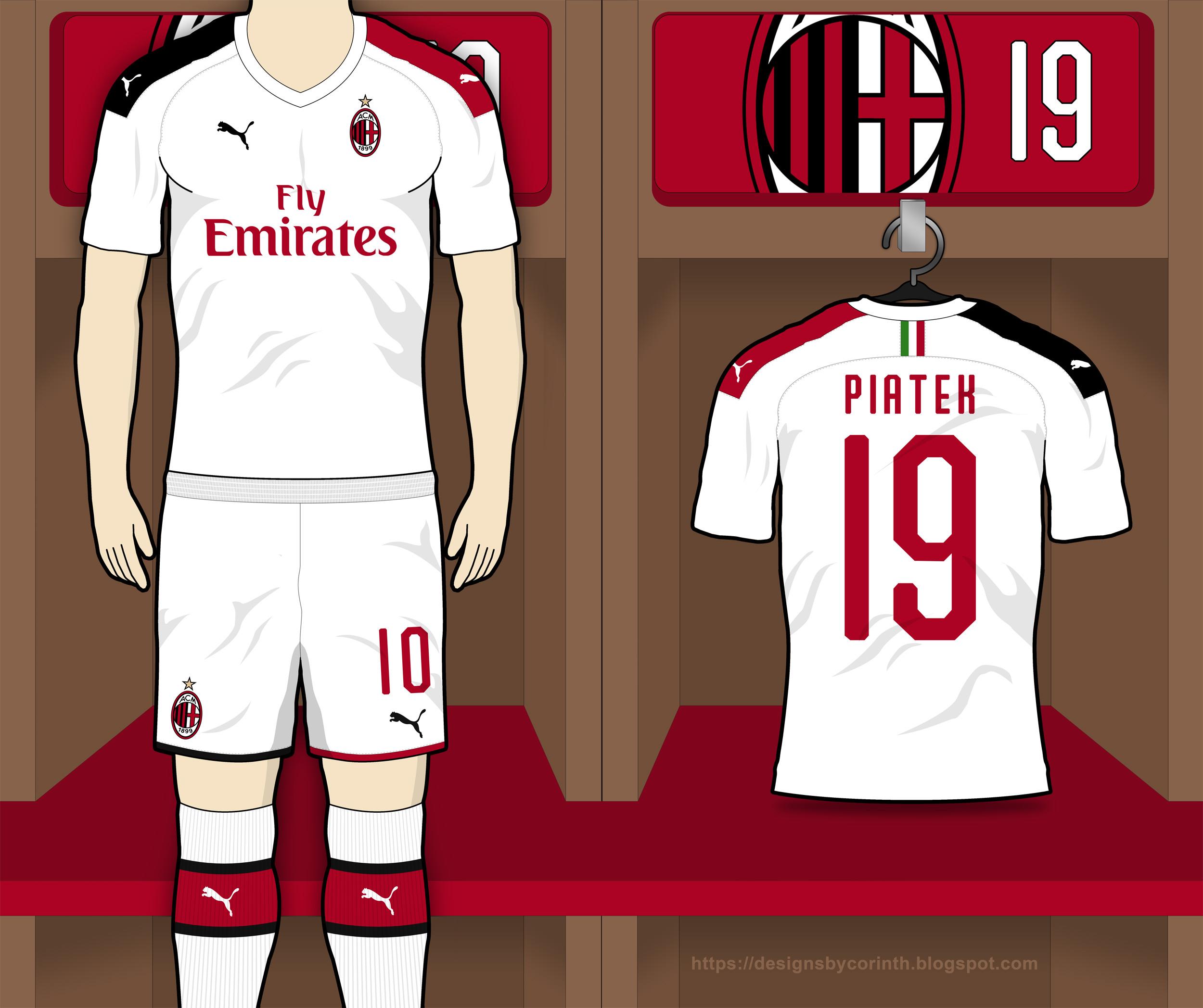 official photos 68648 454bf AC Milan 2019-20 Away Kit Prediction | Kit design | Football ...