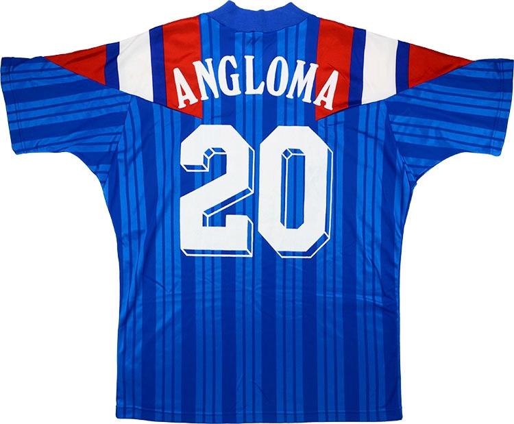 FRANCE ADIDAS EURO 1992 AWAY FOOTBALL SOCCER JERSEY SHI