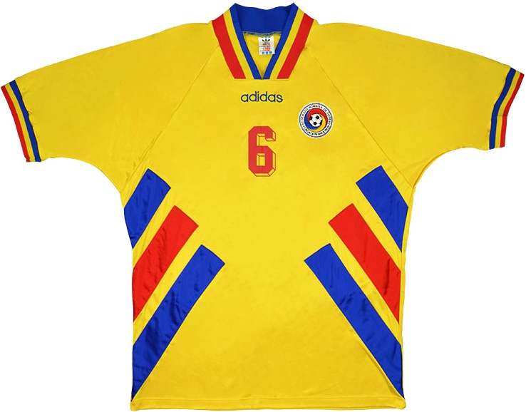 Click to enlarge image  adidas 1994 romania match worn world cup home shirt a.jpg ... 0be89e66ecf4