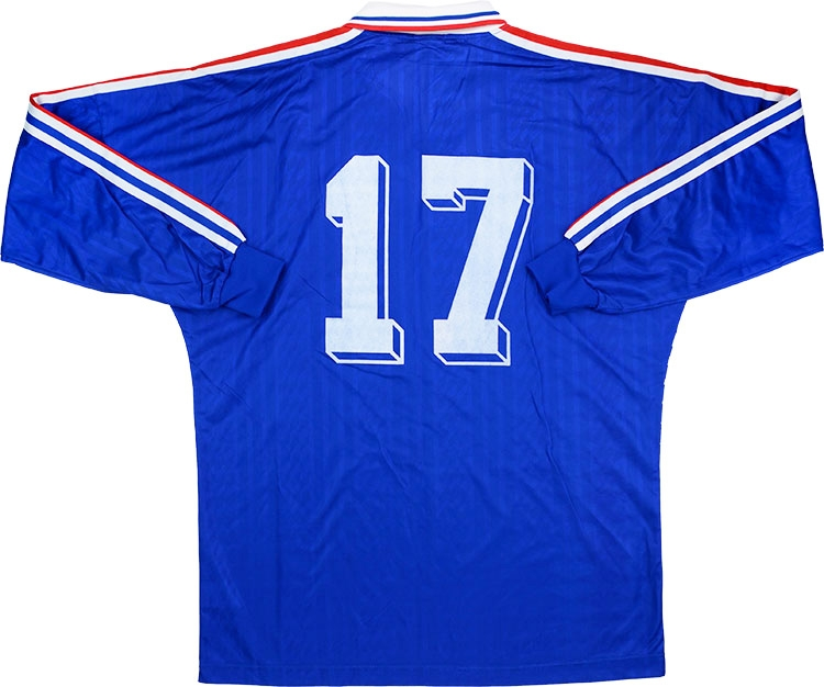 new product 4bcc3 57e41 Adidas 1995 France Match Worn Home Shirt | Vintage Football ...