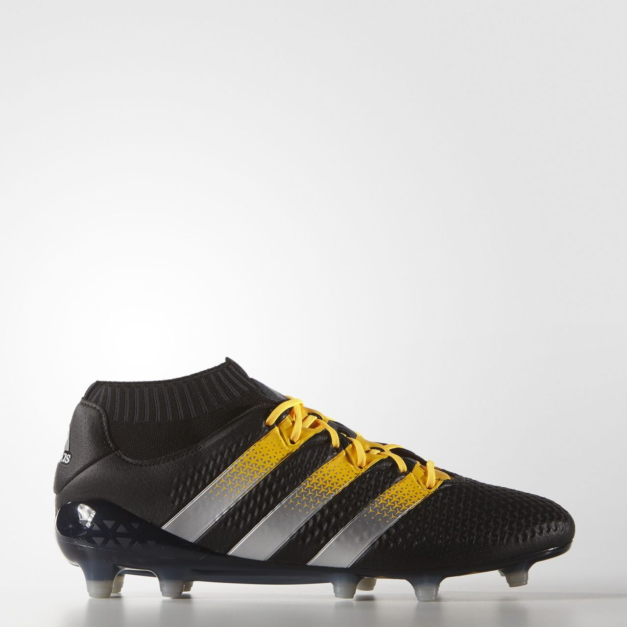 bb7bdaa4b544e Adidas ACE 16.1 Primeknit Firm Artificial Ground Boots - Core Black   Silver  Met   Solar Gold