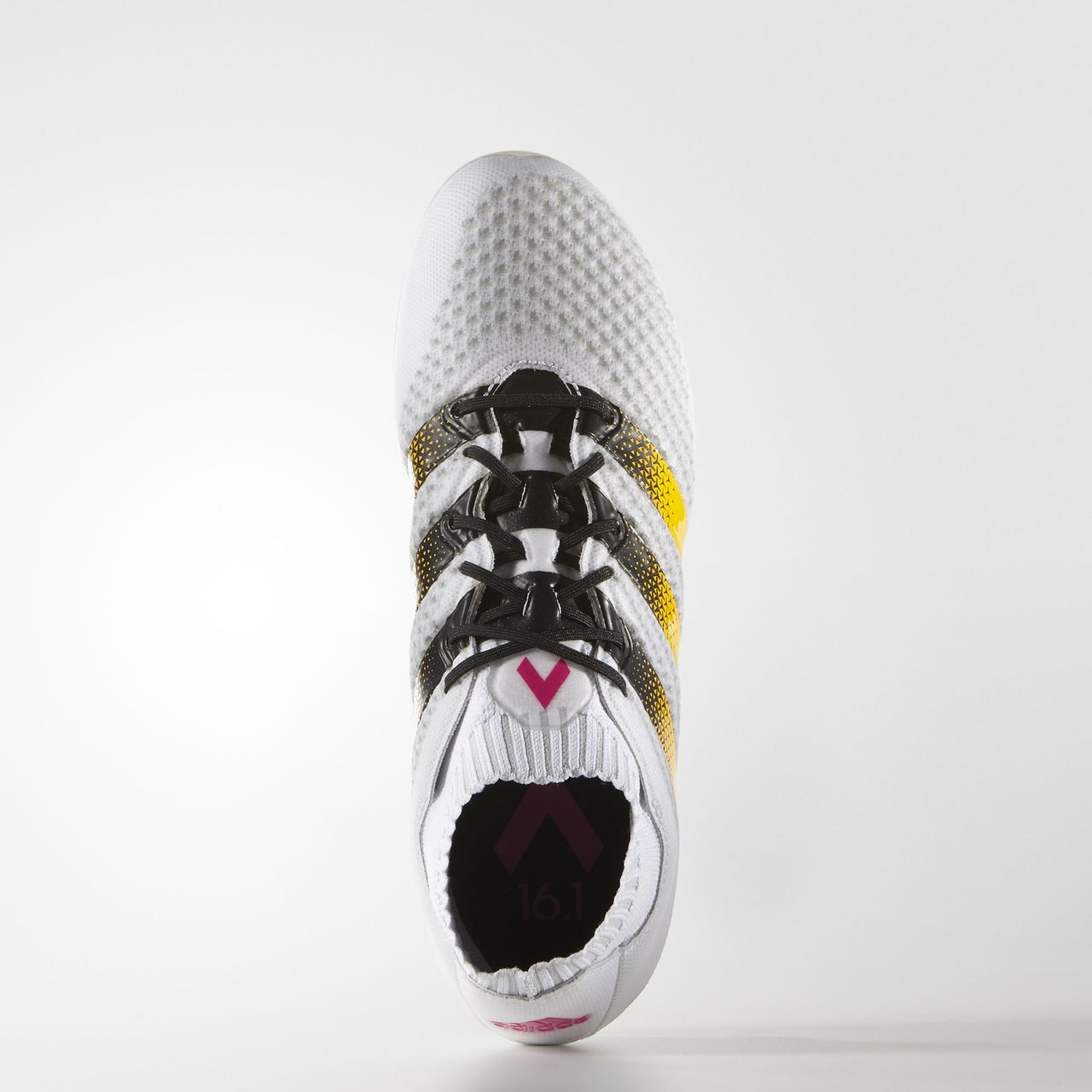 Adidas ACE 16.1 Primeknit Firm Ground Boots - White   Solar Gold ... 9ccbb301fa