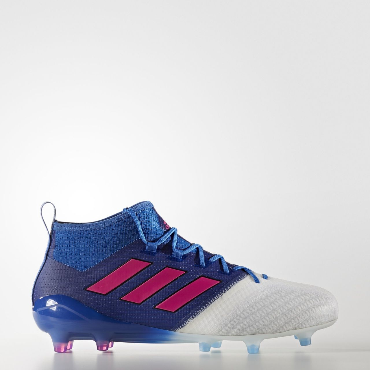 sale retailer 06dd7 dd34a Click to enlarge image  adidas ace 17 1 primeknit firm ground boots blue blast blue shock pink footwear white a.jpg  ...