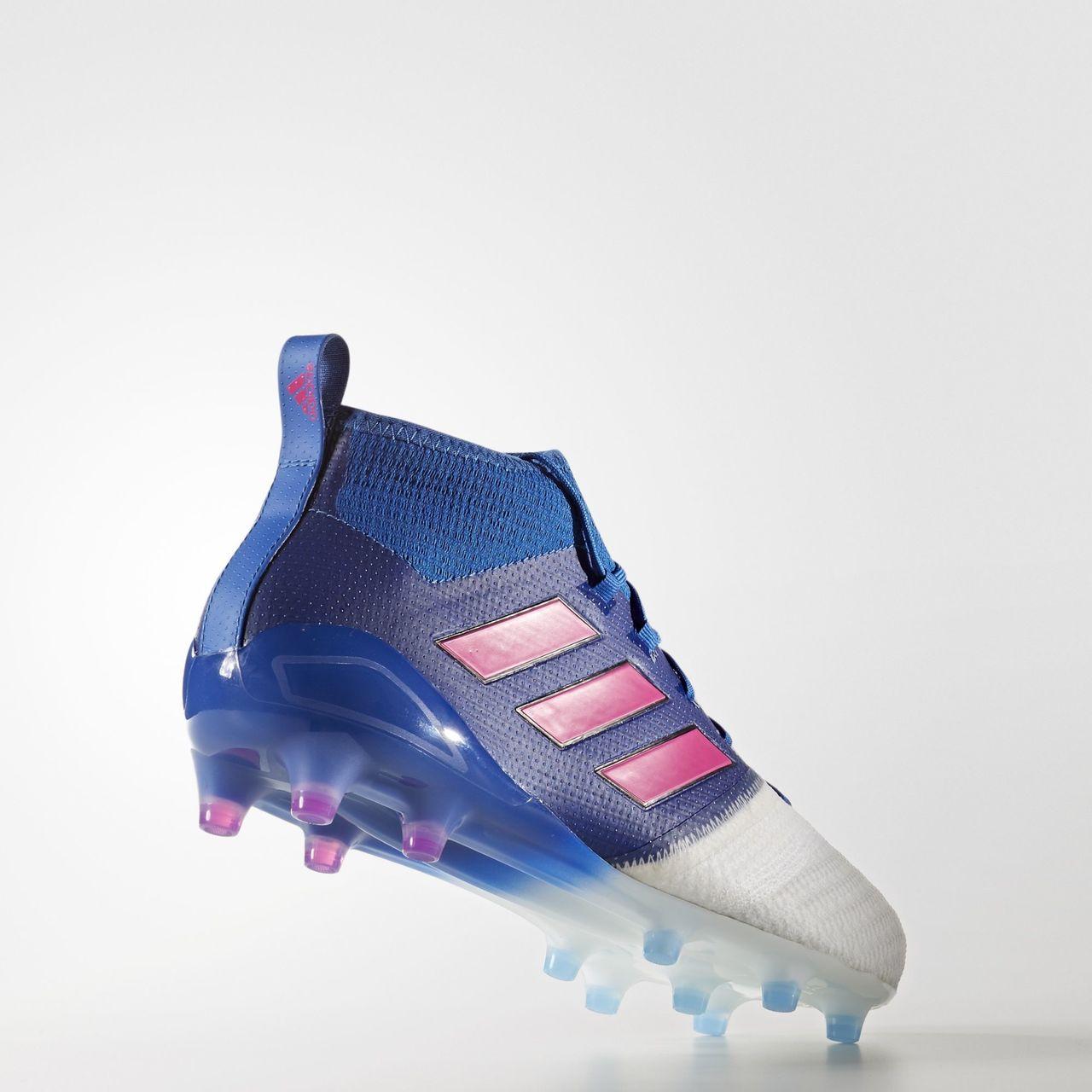 2a7272d805eb adidas ACE 17.1 Leather FG - Blue Shock Pink White .  http   www.footballshirtculture.com Football-boots adidas- ...