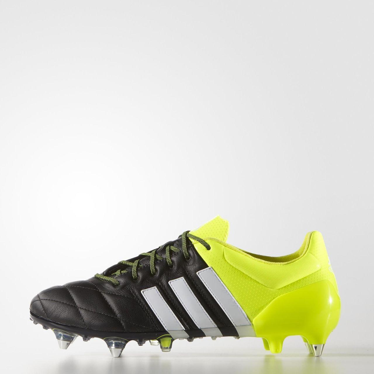 sports shoes 5580e d860b Adidas Ace15.1 SG Boots - Core Black / White / Solar Yellow ...