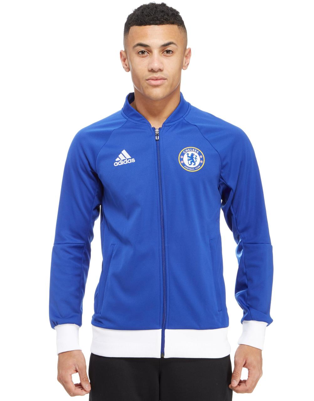 48110dbf3f41 Adidas Chelsea FC 2016 17 Anthem Jacket - Chelsea Blue   White ...