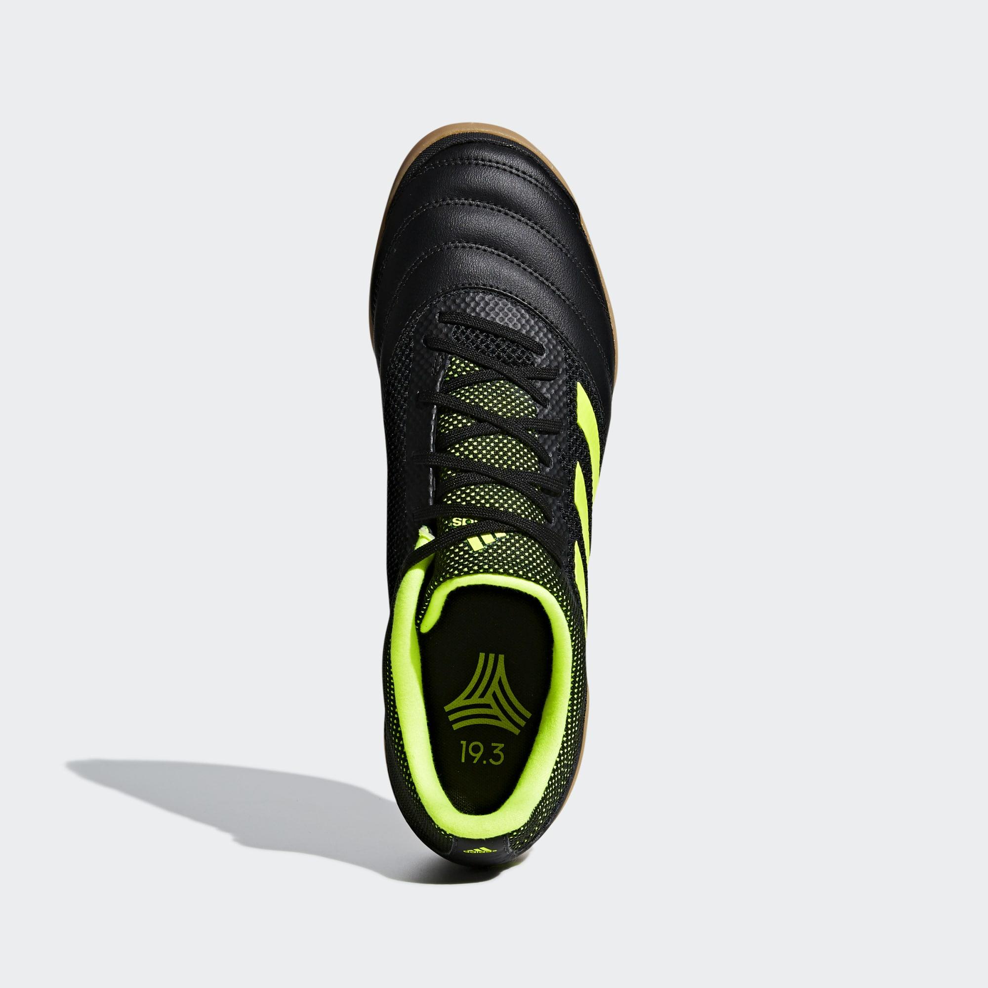 9e7bfaead35 Adidas Copa 19.3 IN Sala Exhibit Shoes - Core Black   Solar Yellow   Gum M1