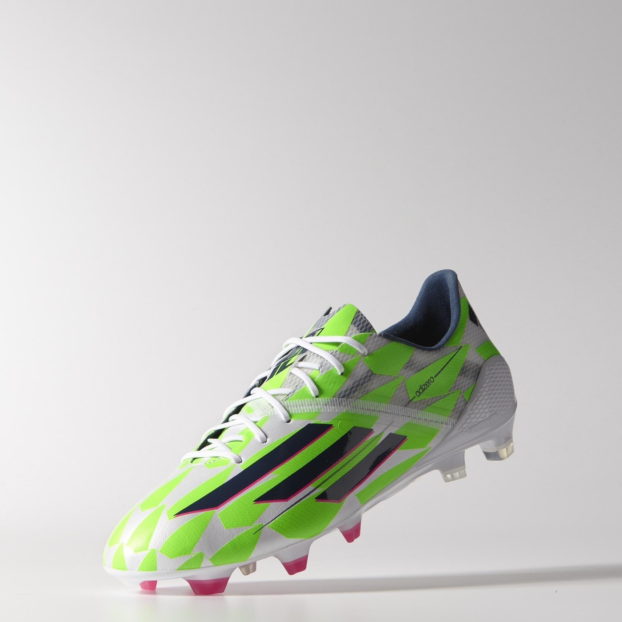 adidas f50 adizero core white rich blue solar green