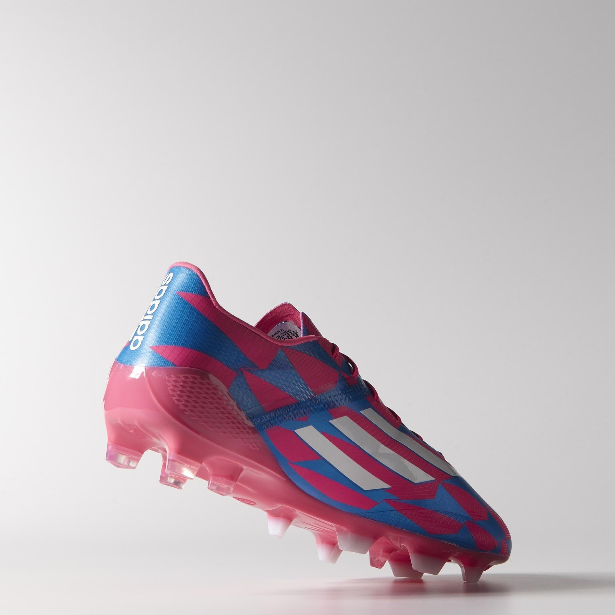 Yükle (1201x700) · Adidas F50 adizero FG Boots - Solar Pink / Core White /  Solar Blue Football boots