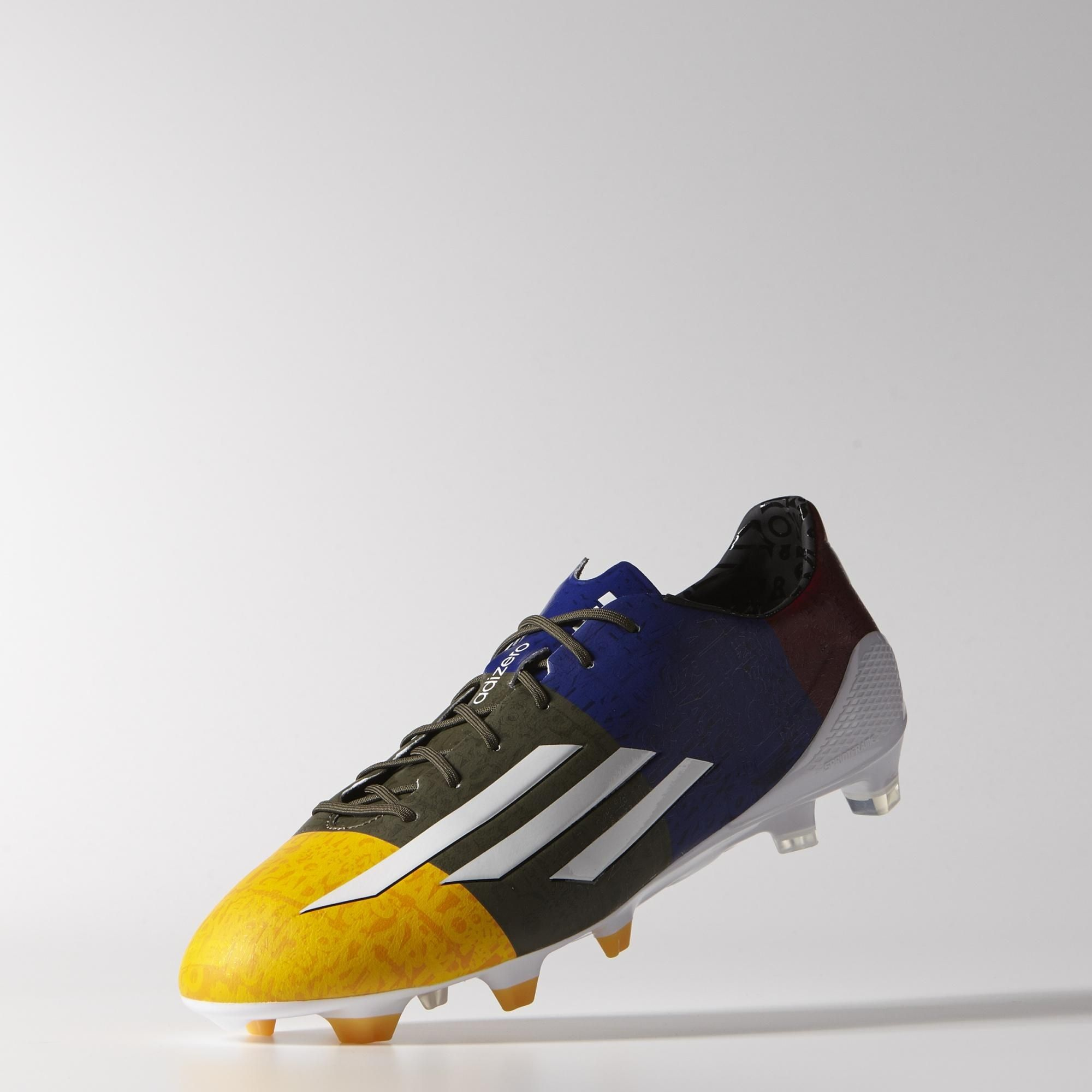 separation shoes 9bf87 a6c40 Adidas F50 adizero FG Messi Boots - Solar Gold  White  Earth Green