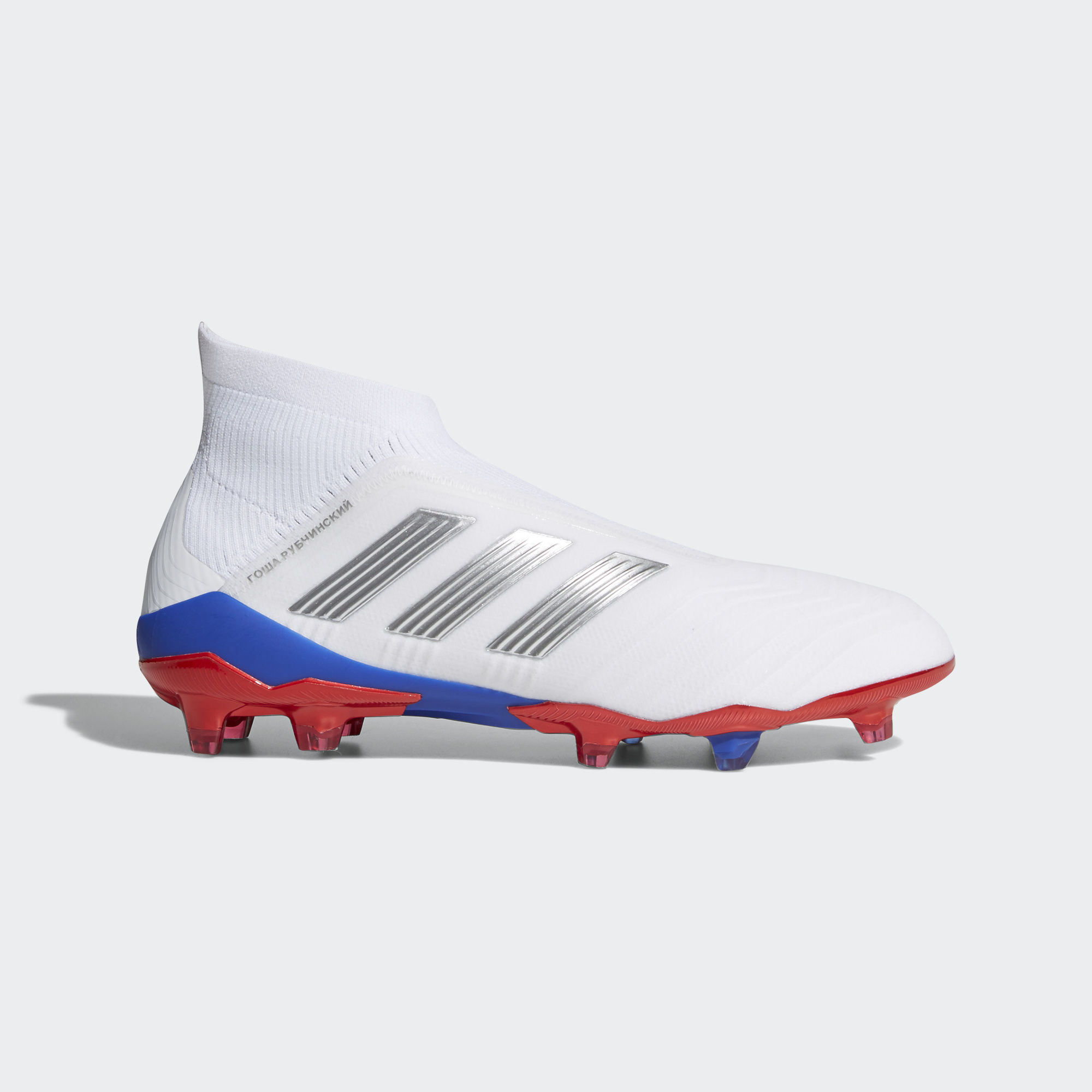 low priced 51f96 35230 Adidas Gosha Rubchinskiy Predator 18+ Firm Ground Boots - Ftwr White   Silver Met  Bold Red