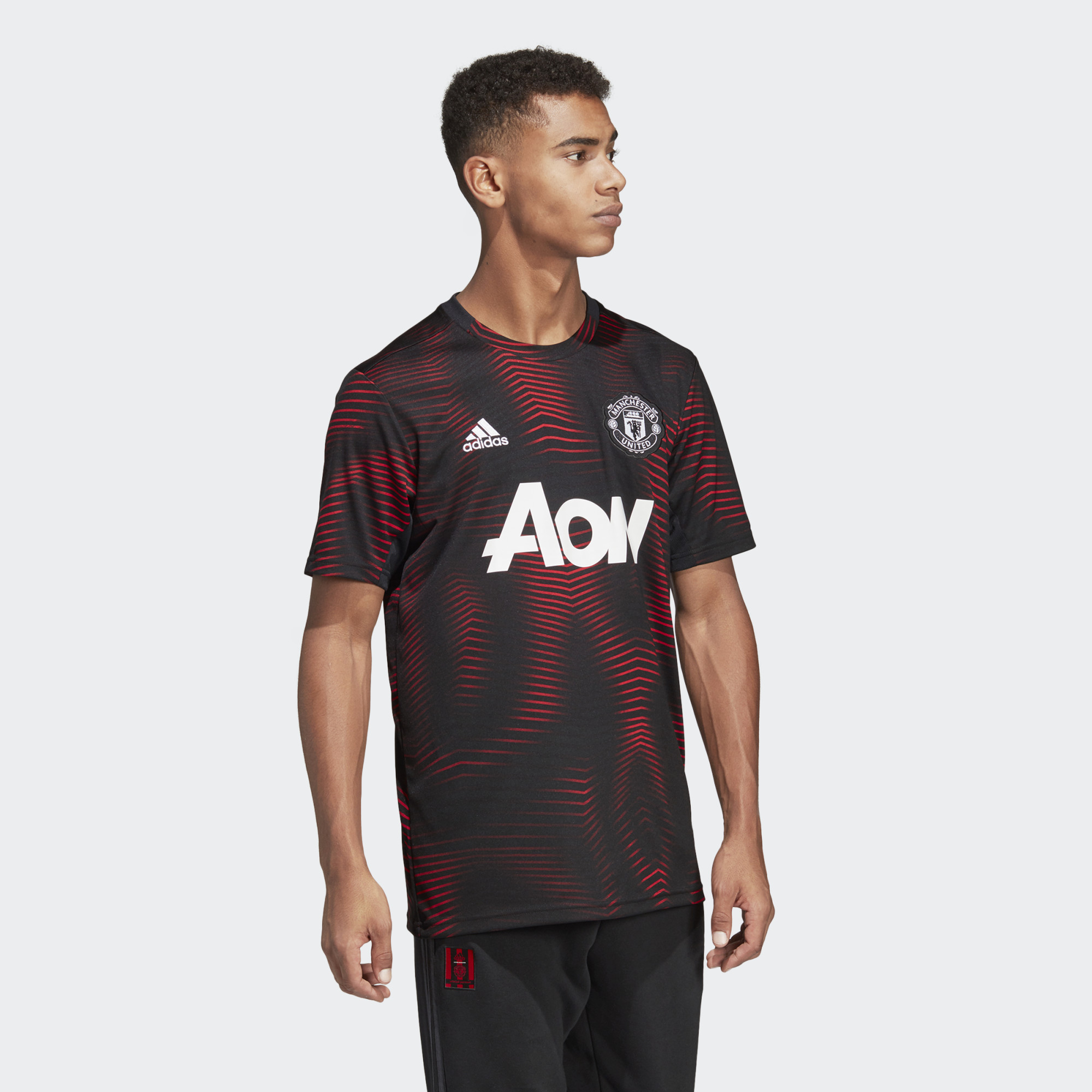 a9d1db5a9 ... Click to enlarge image  Manchester United Home Pre-Match Jersey Black DP2285 25 model.jpg