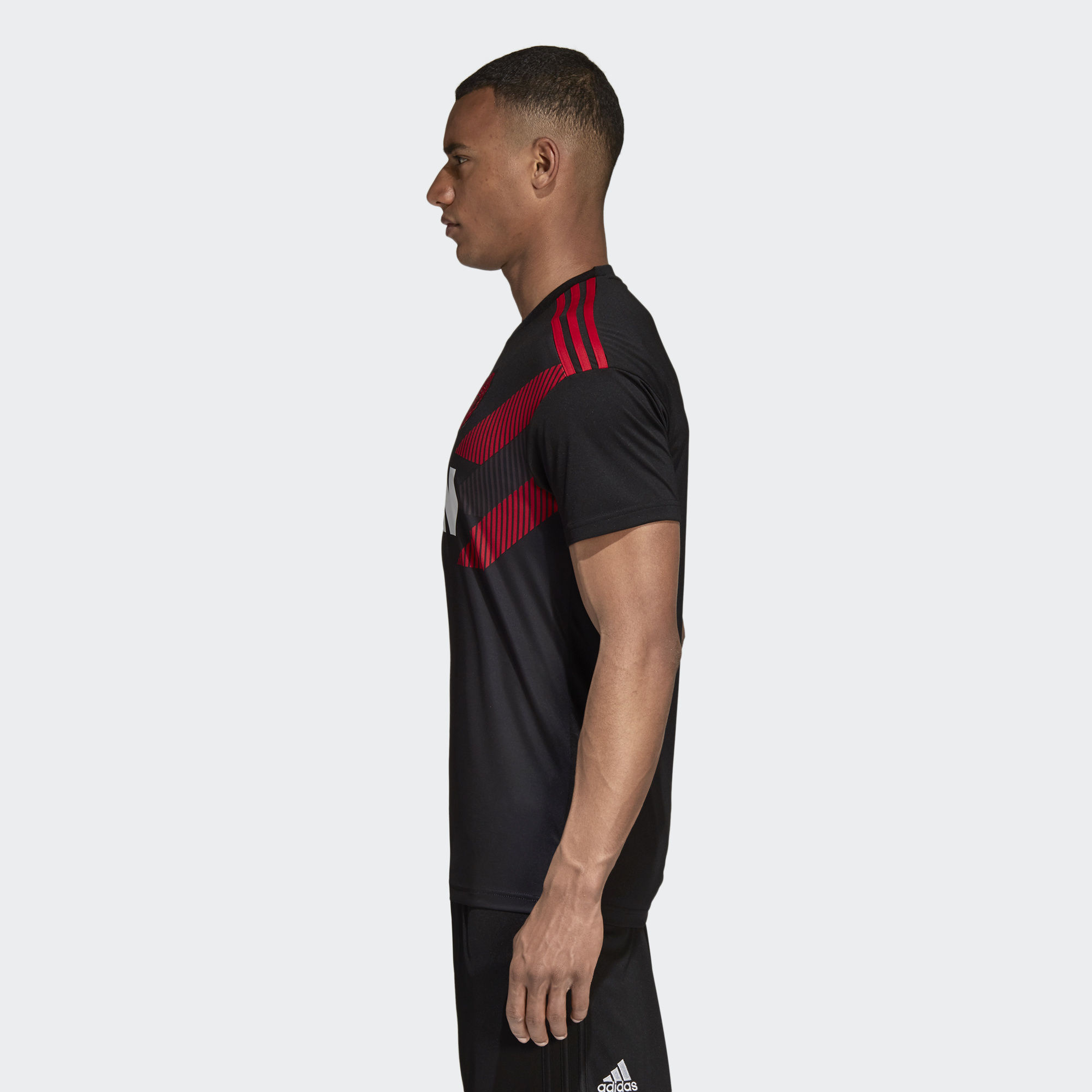 5e3299a6c Adidas Manchester United Home Pre-Match Jersey - Black   Real Red ...