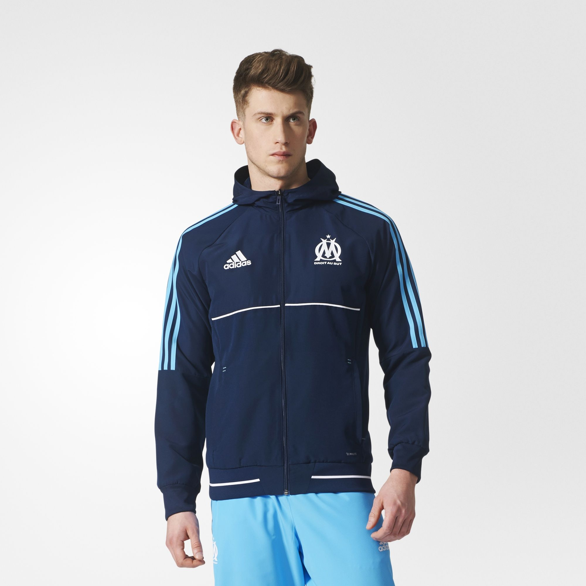 adidas olympique marseille 17 18 presentation jacket. Black Bedroom Furniture Sets. Home Design Ideas