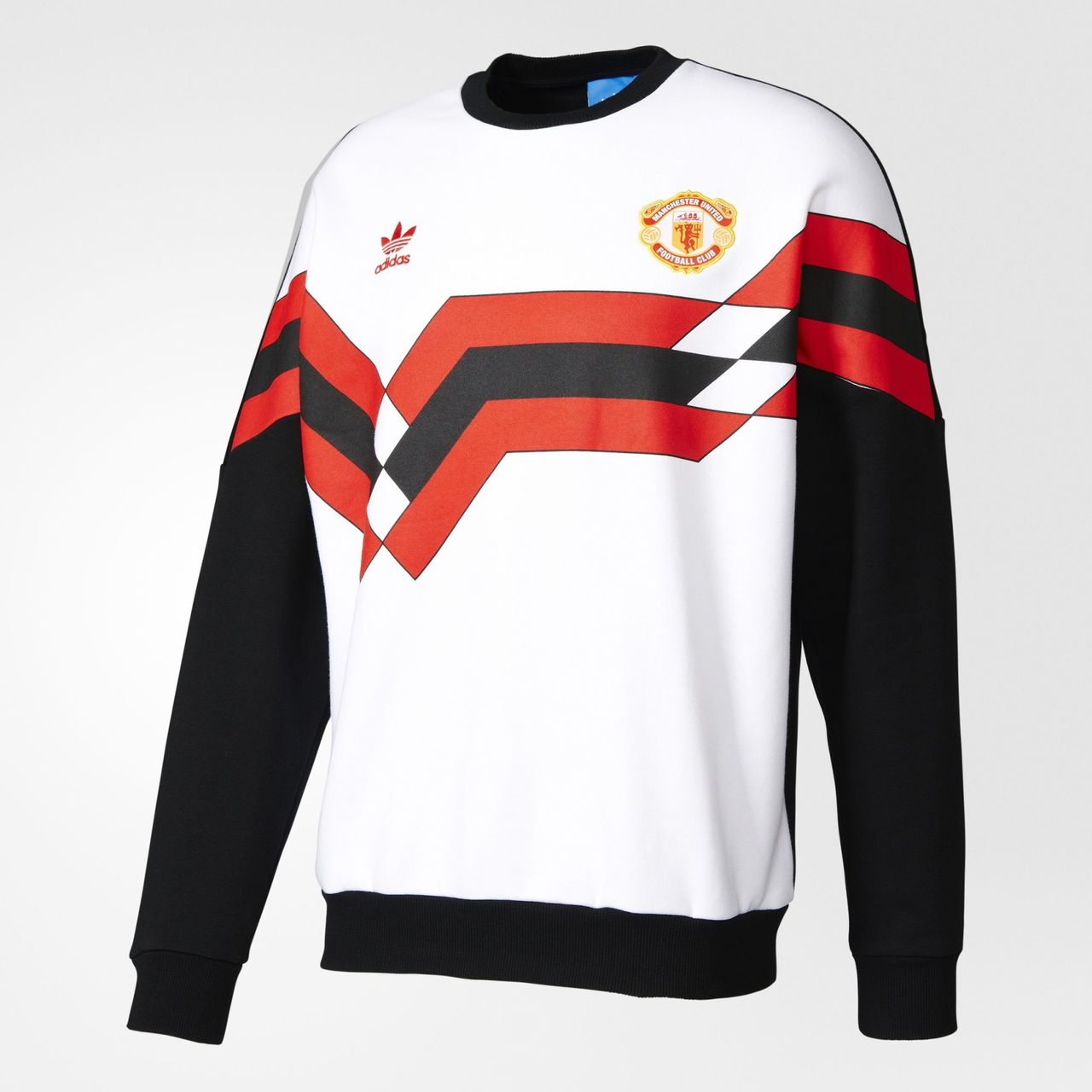 Design t shirt manchester united - Adidas Originals Manchester United Fc 1988 Crew Sweatshirt Black White