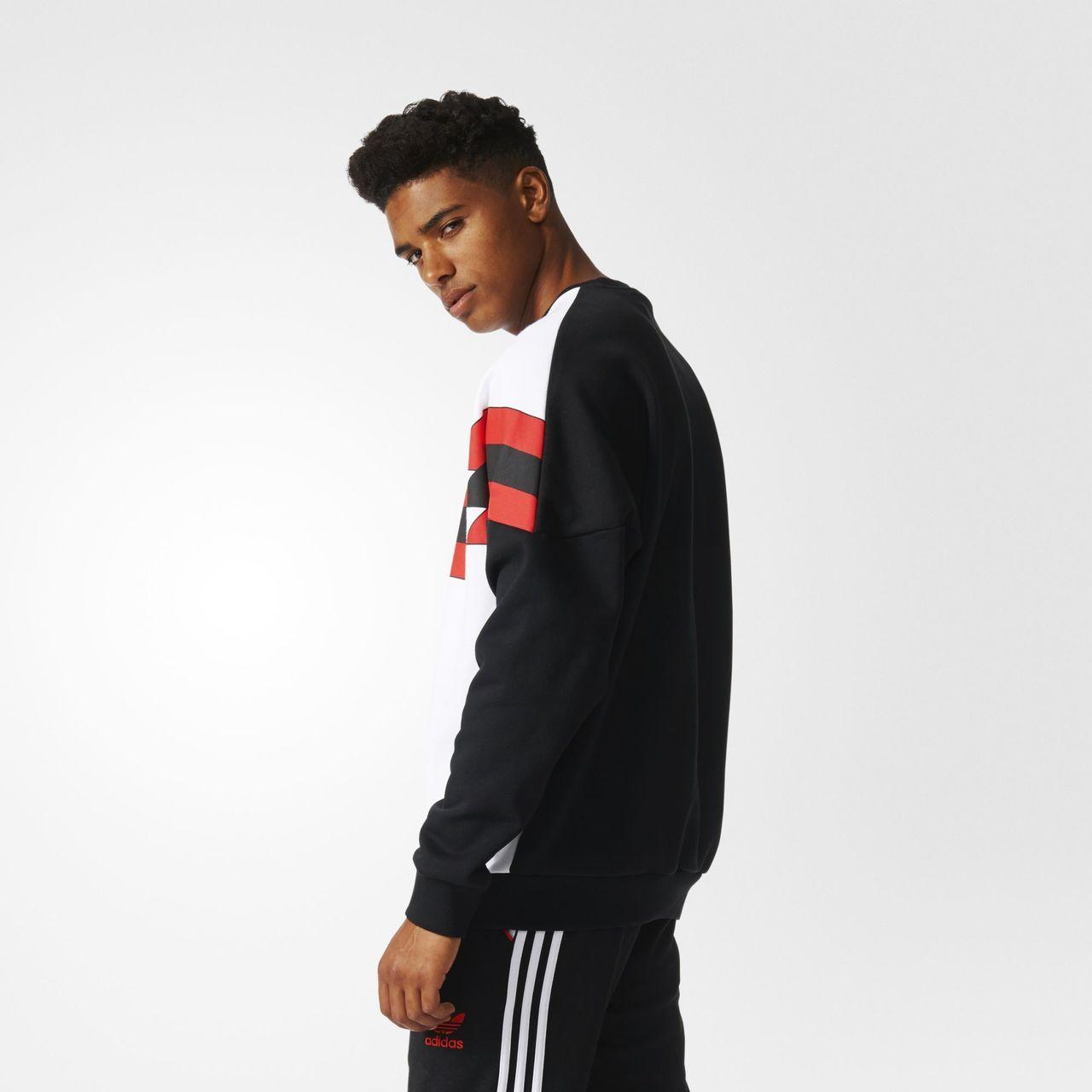 Originals Manchester Fc Sweatshirt Adidas Black 1988 United Crew 65dxFxqw