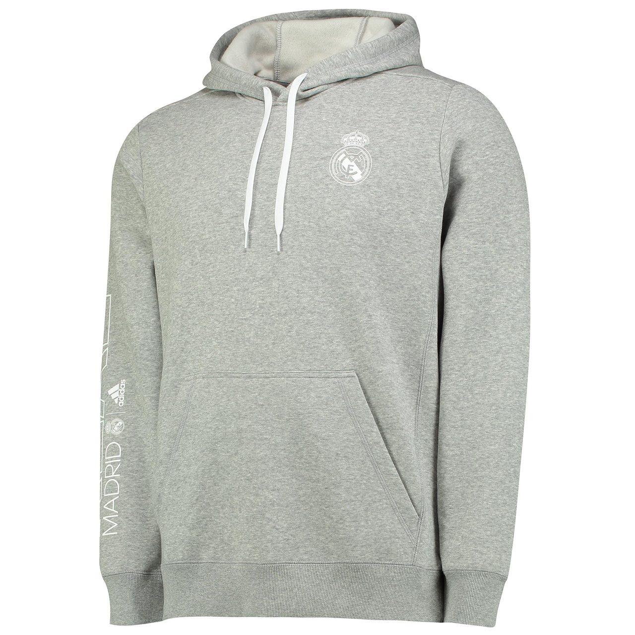 Adidas Real Madrid Core Hoodie - Medium Grey Heather  49767ea13