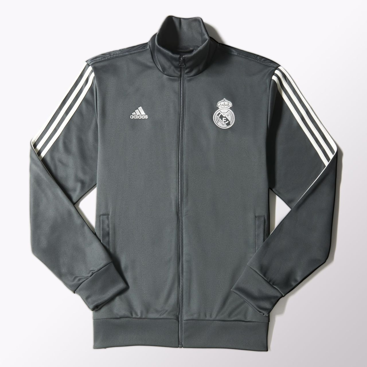best service 2cfa8 94128 Adidas Real Madrid Core Track Jacket - Dgh Solid Grey .