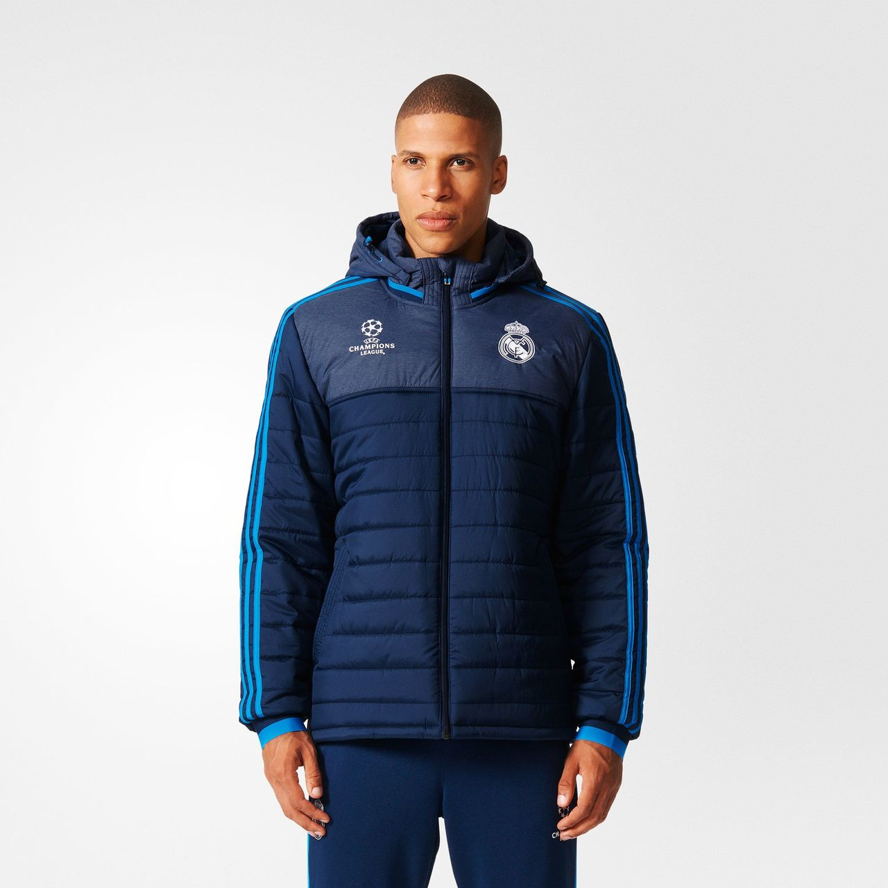 Adidas Real Madrid Ucl Padded Jacket Night Indigo
