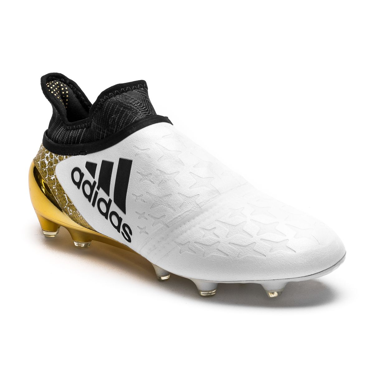 adidas X 16 Purechaos FG/AG Leather Core Black/White/Gold Metallic