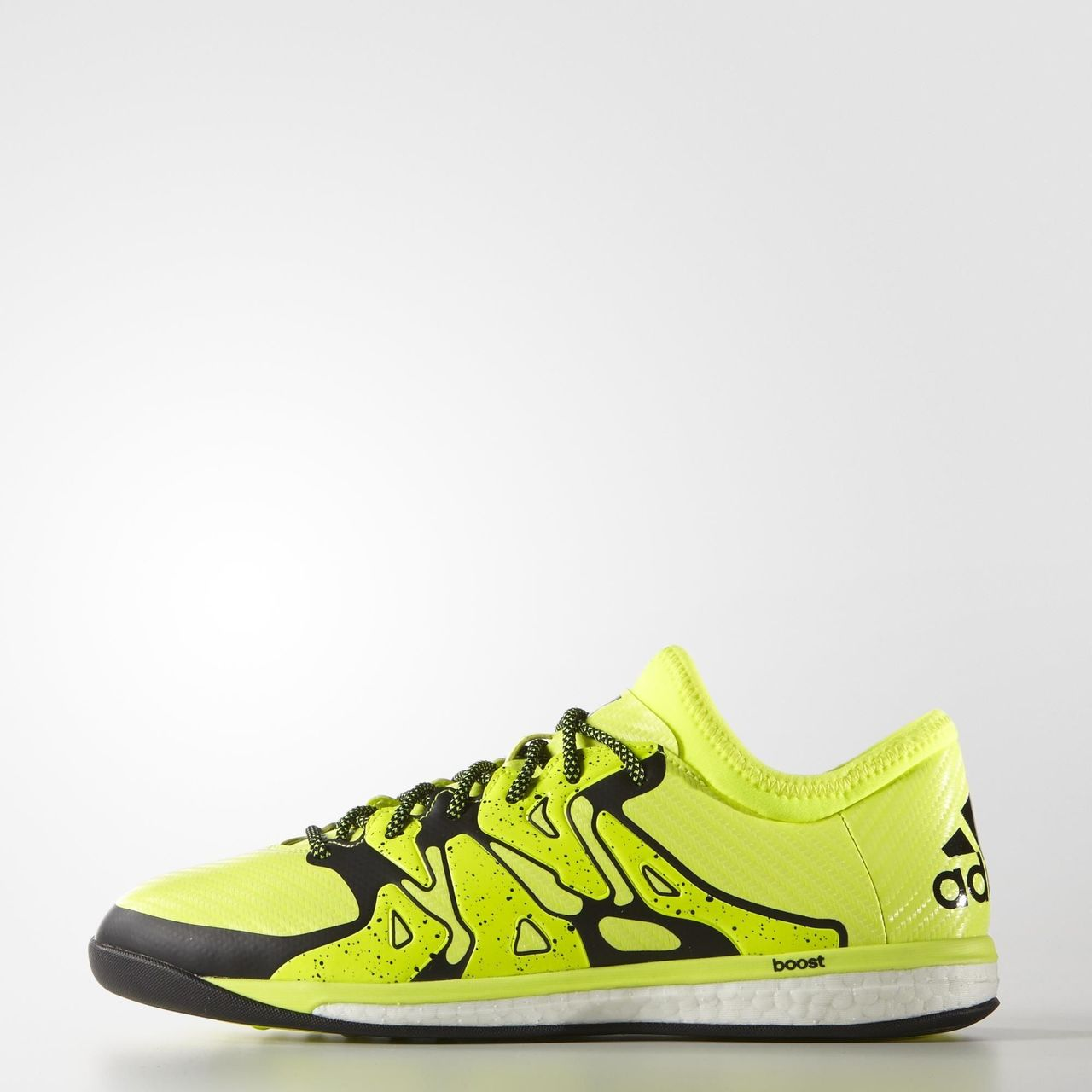 ad08a4cc08f2 Adidas X15.1 Boost Indoor Shoes - Solar Yellow   Core Black   Frozen ...